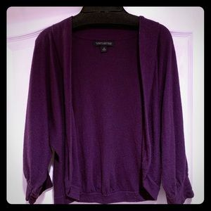 Banana Republic cashmere luxury blend purple shrug